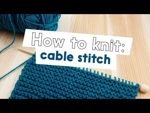 cable - Learn to Cable Stitch. Cables add texture to knitted fabric, this will create a cable that twists to the left.