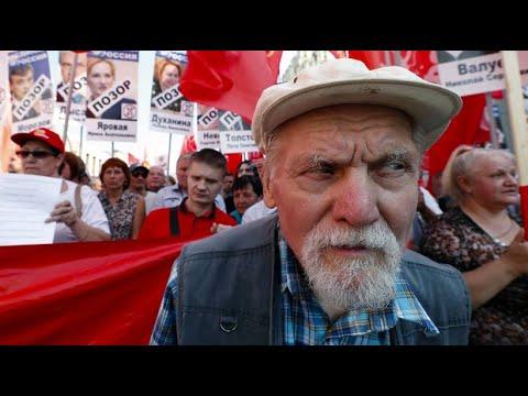 Moskau: Tausende demonstrieren gegen die Rentenreform