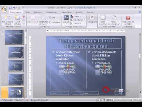Powerpoint Präsentation Tutorial Deutsch Folienmaster