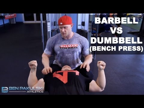 Ben Pakulski Barbell VS Dumbbell (Bench Press)
