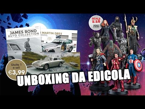 Unboxing da edicola: Marvel Movie Collection e James Bond Auto Collection (видео)