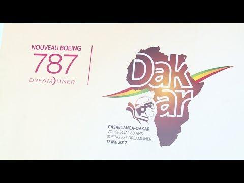 Sénégal : 1er atterrissage du nouveau Dreamliner B787 de la RAM à Dakar