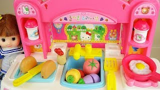 Video Baby Doli and Hello kitty kitchen food toys baby doll play MP3, 3GP, MP4, WEBM, AVI, FLV Agustus 2017