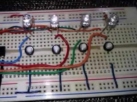 Led Simon Elektronik Oyun Uygulama Devresi