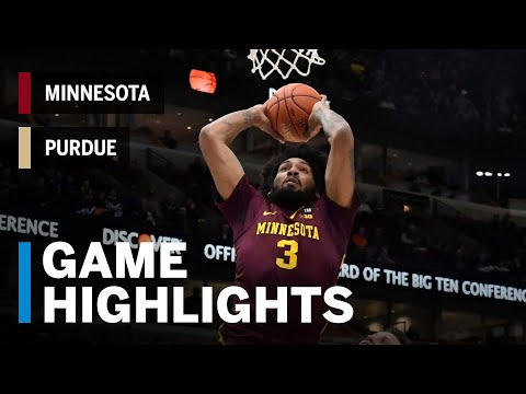 Highlights: Minnesota Upsets B1G Co-Champ Purdue | Minnesota vs. Purdue | 2019 B1G Tournament