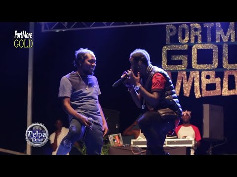 Popcaan shoot jahfrass and quada to the TOP Performance LIVE in Jamaica