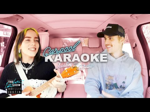Justin Bieber and Billie Eilish Carpool Karaoke