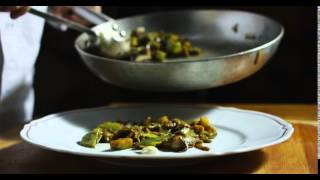 Filetto di baccalà con verdure ed erbe