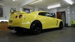 Nissan GTR Yellow Vinyl Wrap