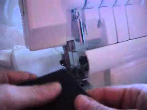 ¿Cómo hacer el dobladillo invisible overlock?