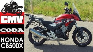 5. CMV Moto Testy: HONDA CB500X ABS - test, opinia, recenzja, jazda testowa