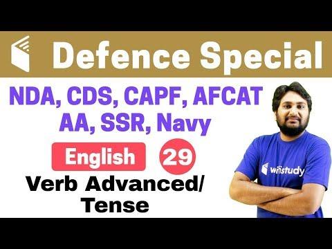 7 00 PM NDA CDS CAPF AFCAT 2018 English By Harsh Sir Verb Advanced Tense