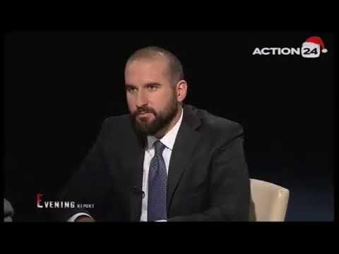 Ο Δημήτρης Τζανακόπουλος  στο ACTION 24