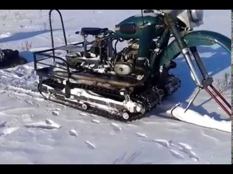 Как из мотоцикла урал сделать снегоход своими