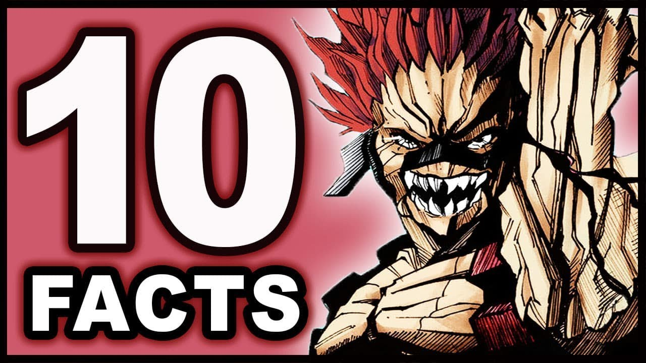 Top 10 Eijiro Kirishima Facts You Didn't Know! (My Hero Academia / Boku no Hero Academia) - YouTube