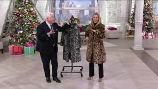 Dennis Basso Platinum Collection Faux Fur Knee Length Coat on QVC