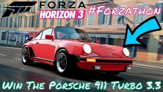 #Forzathon - Horizon Secret Service Challenges Win the Porsche 911 Turbo 3.3 on 28 April 2017 on Forza Horizon 3 fh3 Here is a Complete Guide to complete and...