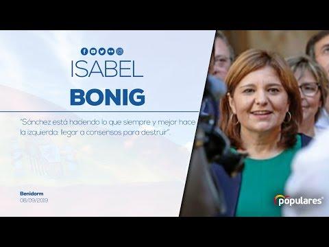 """Isabel Bonig: """"Sánchez está haciendo lo que hace la izquierda: llegar a consensos para destruir"""""""