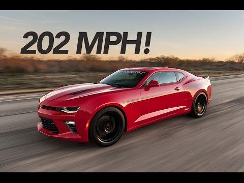 Watch 552kW Hennessey Camaro hit 323km/h