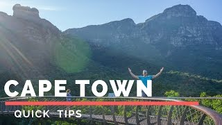 Quick tips on having a great time in Cape Town on a quick trip.Travel Video: https://youtu.be/pWyludwqn4MIn this video I give detailed tips and prices. Cape Tow has a lot to do and In this video I go over what you can do in 2 to 3 days in cape town.