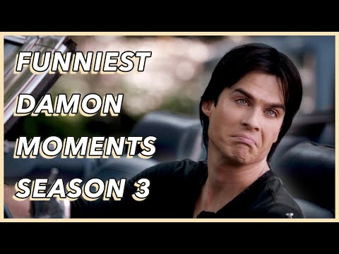Funniest Damon Salvatore Moments | Season 3