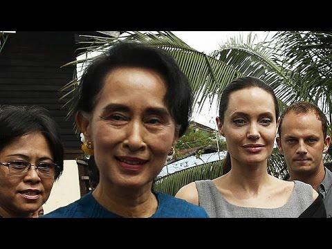 Μιανμάρ: Συνάντηση Αντζελίνα Τζολί- Σου Κι