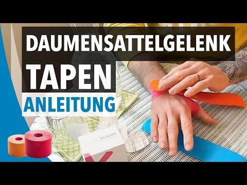 DAUMENSATTELGELENK TAPEN / STABILISIEREN - Daumen Taping Anleitung - Kinesiologie Tape Daumen