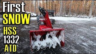 4. 2017 Honda HSS1332ATD Track Drive Snowblower | First Snowfall of the Season Vlog