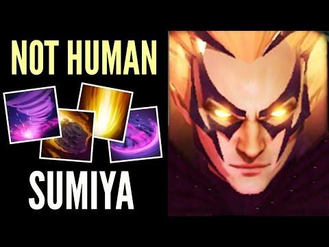 Insane Invoker Epic SunStrike Combo by SumiYa is Not Human MMR 7.00 Gameplay Dota 2