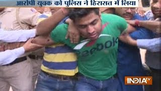 Delhi: Kapil Mishra who is sitting on a 'Satyagraha' attacked by a person named Ankit Bhardwaj