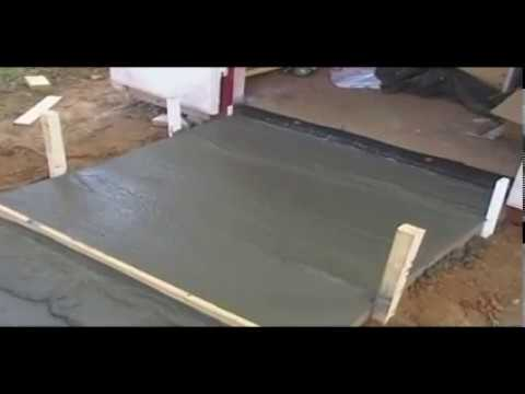 Sidewalk - This video describes step by step and demonstrates how to build forms, mix and pour a concrete ramp for a storage building. These basic techiques can also be...
