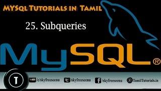 MYSQL Tutorials In Tamil 25  Subqueries