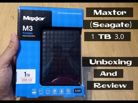 Maxtor (Seagate) M3 1TB External Hard Drive  Unboxing & Review