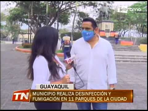 Municipio realiza desinfección y fumigación en 11 parques de la ciudad