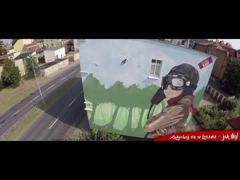 Zakochaj się w Lesznie - jak MY (murale z lotu ptaka)