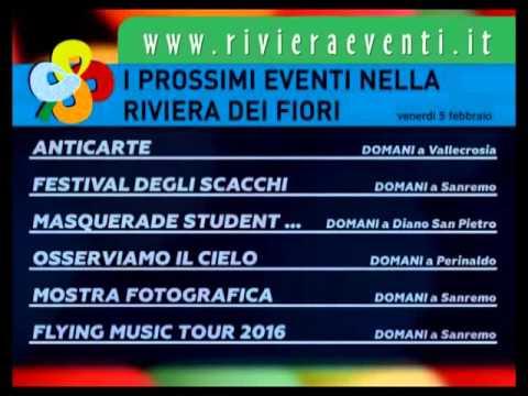 GLI APPUNTAMENTI DI RIVIERA EVENTI DI VENERDI 5 FEBBRAIO 2016