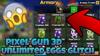 HOW TO GET UNLIMITED EGGS/PETS in Pixel Gun 3D 12.0.1 [GLITCH] *Tutorial* Hey Guys, Today I'm going to show you guys how to get unlimited egg deliveries in P...