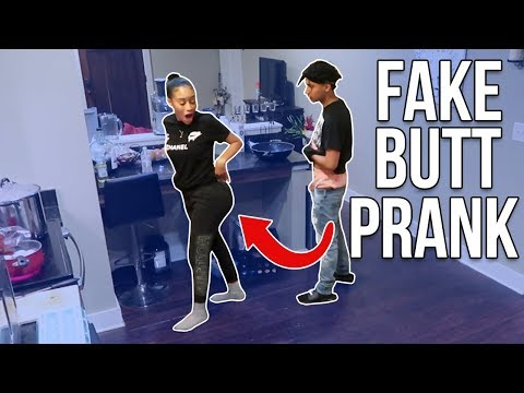 FAKE BUTT PRANK ON BOYFRIEND!! ( Booty Implant )