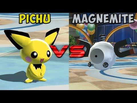 Pokemon battle revolution - Pichu vs Magnemite (видео)