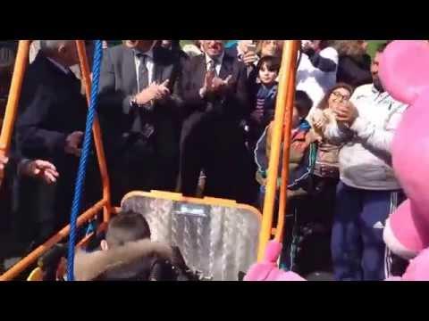 salerno, inaugurata altalena per disabili al parco pinocchio