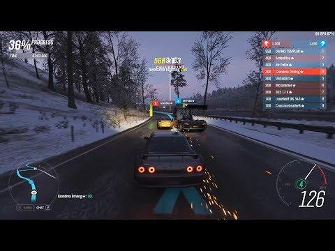 Forza Horizon 4 - A-Class Multiplayer Races w/ Widebody R32 Skyline GT-R