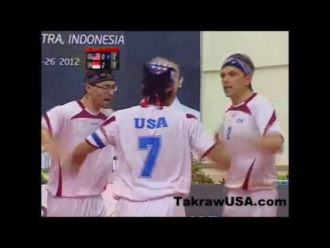 USA Sepak Takraw team at ISTAF Super Series, Indonesia 2012: USA VS Singapore