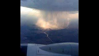 Penampakan Hujan Dilihat Dari Pesawat