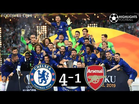 Chelsea 4-1 Arsenal UEL Final 2019 All Goals Highlights HD English Commentary