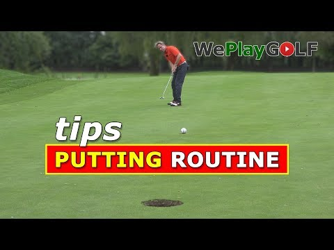 Make LESS PUTTS with a PUTTING Routine - Golf Tips to become a better putter