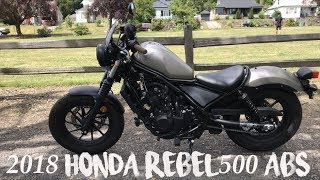 3. 2018 Honda Rebel 500 ABS Walkthrough Review