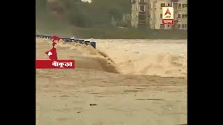 River floating down on the road as flash flood cause due to heavy rain in Bankura: Watch