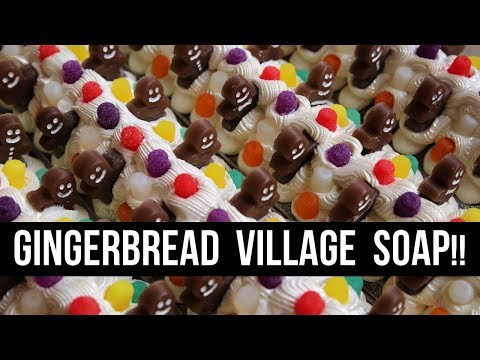 Gingerbread Village Soap (+CALEB RUINS MY OUTRO) | Royalty Soaps