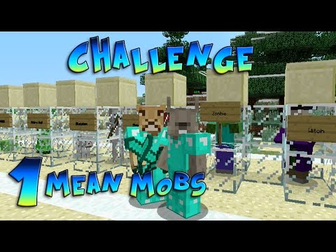 Minecraft Xbox - Challenge Mean Mobs - Fred and Bob! [1]