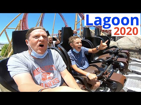 BEST RIDES at LAGOON AMUSEMENT PARK 2020!! (part 1)